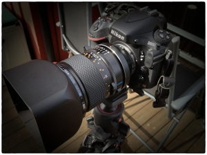 The Carl Zeiss 110 f2.0 mounted on my D800 via the Fotodiox adapter.