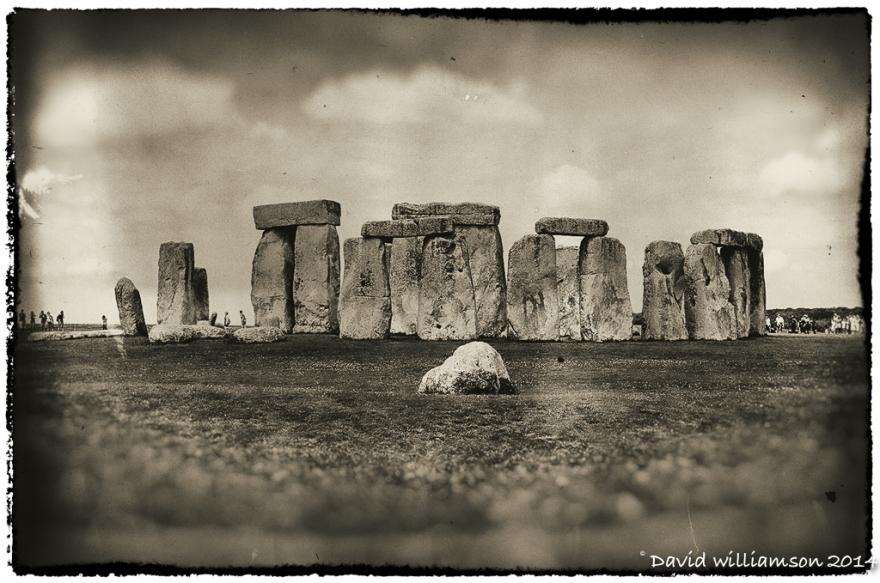 Stonehenge. (Wet plate)